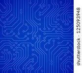 vector circuit board. blue... | Shutterstock .eps vector #125093948