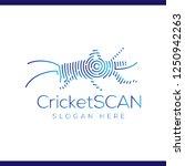 cricket scan technology logo...   Shutterstock .eps vector #1250942263