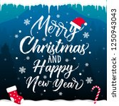 merry christmas and happy new...   Shutterstock .eps vector #1250943043