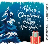 merry christmas and happy new...   Shutterstock .eps vector #1250943046