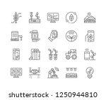 set of smart farm outline icons ... | Shutterstock .eps vector #1250944810