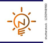 ne initial letter with creative ... | Shutterstock .eps vector #1250948980