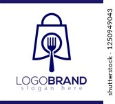 food shop logo icon vector.... | Shutterstock .eps vector #1250949043