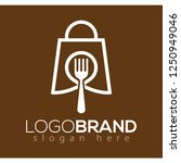 food shop logo icon vector.... | Shutterstock .eps vector #1250949046