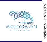 weasel scan technology logo...   Shutterstock .eps vector #1250950123