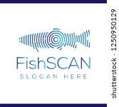 fish scan technology logo...   Shutterstock .eps vector #1250950129