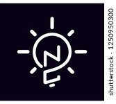 nc initial letter with creative ... | Shutterstock .eps vector #1250950300