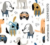 childish seamless pattern with... | Shutterstock .eps vector #1250950570