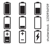 battery icon set | Shutterstock .eps vector #1250956939