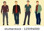 well dressed adult men | Shutterstock .eps vector #125096000