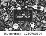 happy christmas dinner design... | Shutterstock .eps vector #1250960809