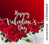 valentine's day greeting card... | Shutterstock .eps vector #1250964649