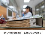 important documents in the... | Shutterstock . vector #1250969053