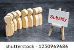 the queue of people to receive...   Shutterstock . vector #1250969686