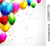colorful birthday background | Shutterstock .eps vector #125097770