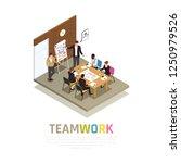 effective teamwork...   Shutterstock .eps vector #1250979526