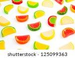 fruit jellies  oranges  lemons  ... | Shutterstock . vector #125099363