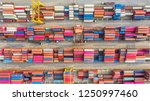 container ship in export and... | Shutterstock . vector #1250997460