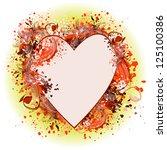 frame floral heart. raster | Shutterstock . vector #125100386