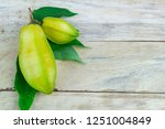 close up star fruit carambola... | Shutterstock . vector #1251004849