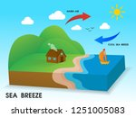 sea breeze. the cold wind blows ... | Shutterstock .eps vector #1251005083