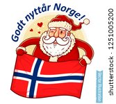 happy new year norway   santa... | Shutterstock .eps vector #1251005200
