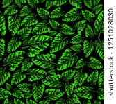 green leaf seamless pattern... | Shutterstock .eps vector #1251028030