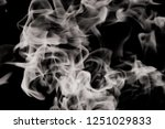 white smoke flame on a black...   Shutterstock . vector #1251029833