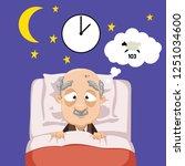 cartoon old man having trouble... | Shutterstock .eps vector #1251034600