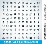 mega web and media icon set | Shutterstock .eps vector #125104010
