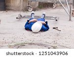 work accident at construction...   Shutterstock . vector #1251043906