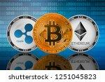 bitcoin  btc   ripple  xrp  and ... | Shutterstock . vector #1251045823