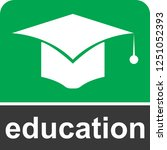 education icon for web and... | Shutterstock .eps vector #1251052393
