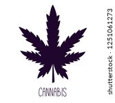cannabis silhouette colorful... | Shutterstock .eps vector #1251061273