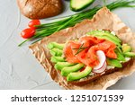 sandwich with avocado and...