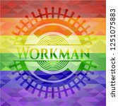 workman emblem on mosaic... | Shutterstock .eps vector #1251075883