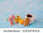 homemade gingerbread cookies  ...   Shutterstock . vector #1251076513