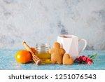homemade gingerbread cookies  ...   Shutterstock . vector #1251076543