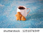 homemade gingerbread cookies  ...   Shutterstock . vector #1251076549