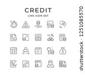 set line icons of credit | Shutterstock .eps vector #1251085570