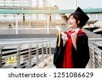 asian students wearing a... | Shutterstock . vector #1251086629