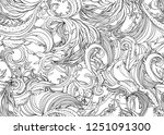 beautiful ornate flower... | Shutterstock .eps vector #1251091300