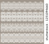 set of lace ribbons for design... | Shutterstock .eps vector #1251094660