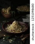 pasta carbonara with parmesan...   Shutterstock . vector #1251098680
