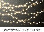 xmas color garland  festive... | Shutterstock .eps vector #1251111706