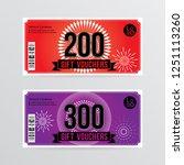 gift voucher template with... | Shutterstock .eps vector #1251113260