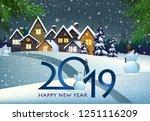 twenty nineteen poster design....   Shutterstock .eps vector #1251116209