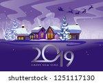twenty nineteen poster design....   Shutterstock .eps vector #1251117130
