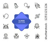 illness line icons. set of line ... | Shutterstock .eps vector #1251121126