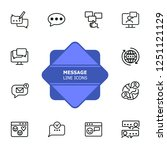message line icons. set of line ... | Shutterstock .eps vector #1251121129